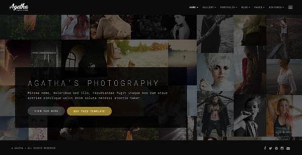 Photography Website Templates – New Photography Themes Every Month