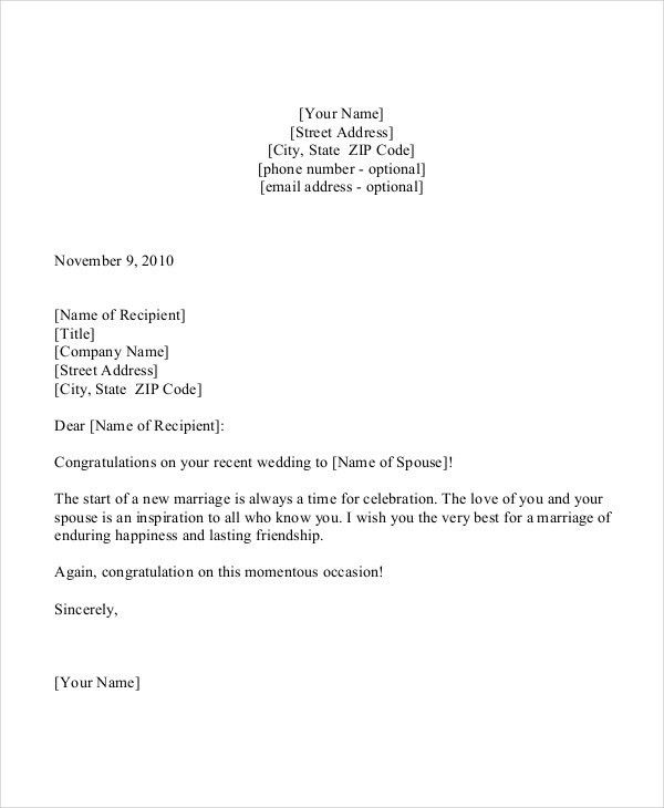 Congratulation Letter Templates - 5+ Free Sample, Example Format ...