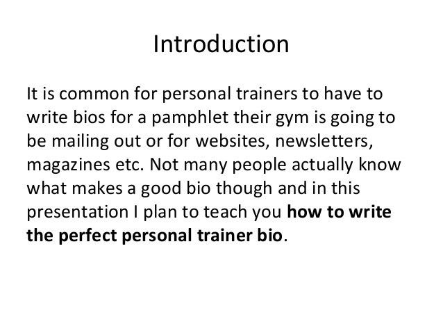 How To Write The Perfect Personal Trainer Bio