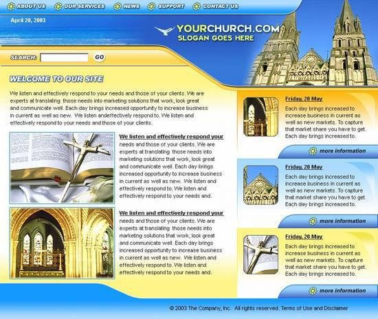 Church website template – Over millions vectors, stock photos, hd ...