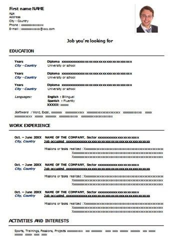 Sample CV Format for Free Download | CV Word Templates