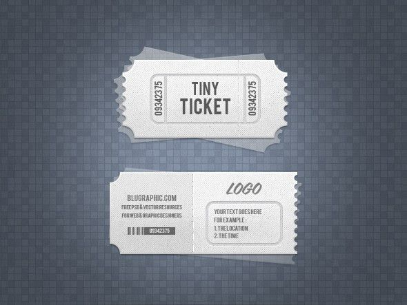 Beautiful Collection of Ticket Template | The Design Work