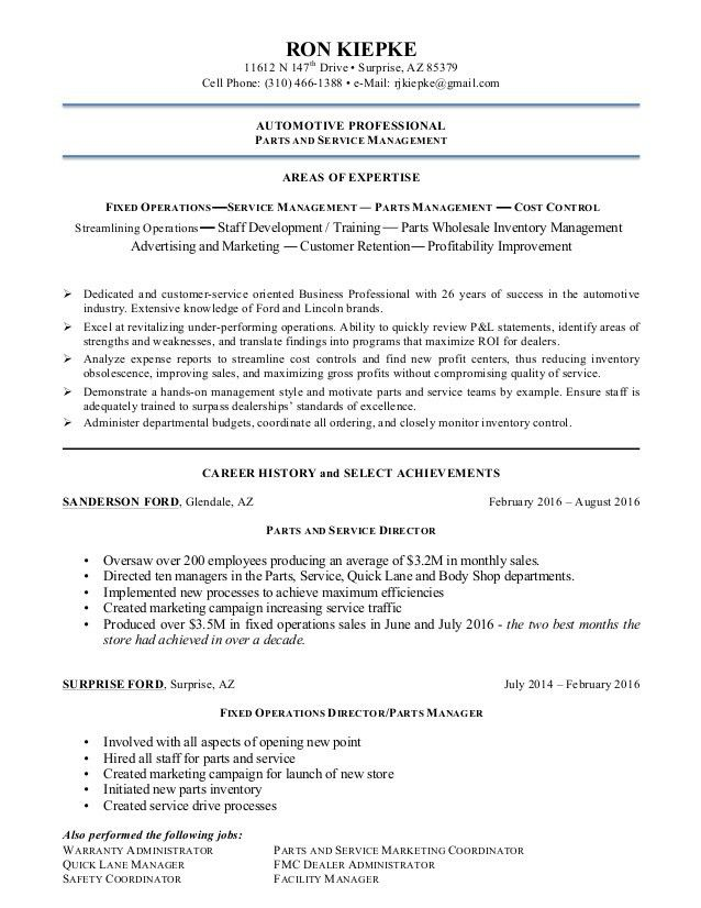 Ron Kiepke Resume 082316