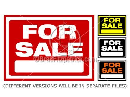 For Sale Sign Clip Art | For Sale Sign Graphics | Clipart For Sale ...