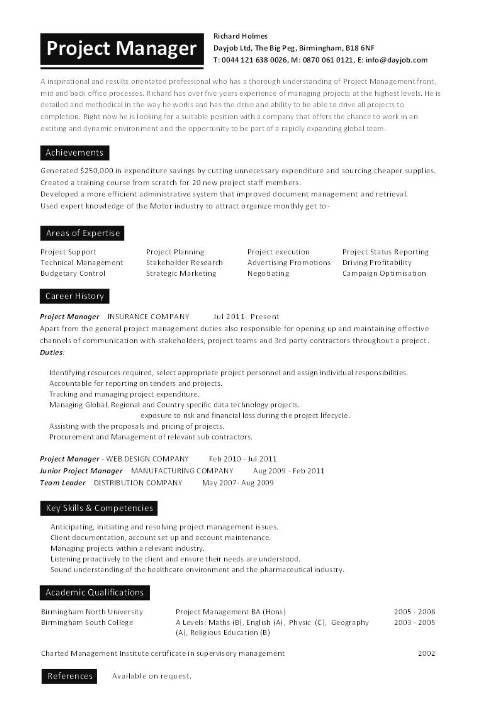 Electrical Project Manager Resume   The Letter Sample