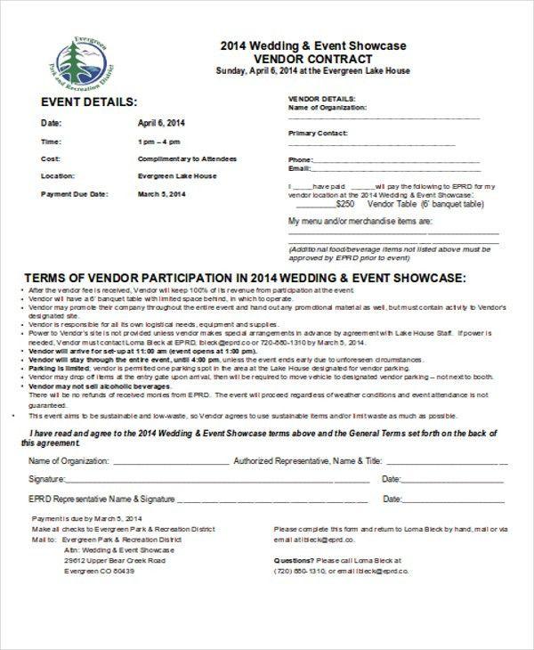 5+ Vendor Contract Templates - Sample, Examples   Free & Premium ...