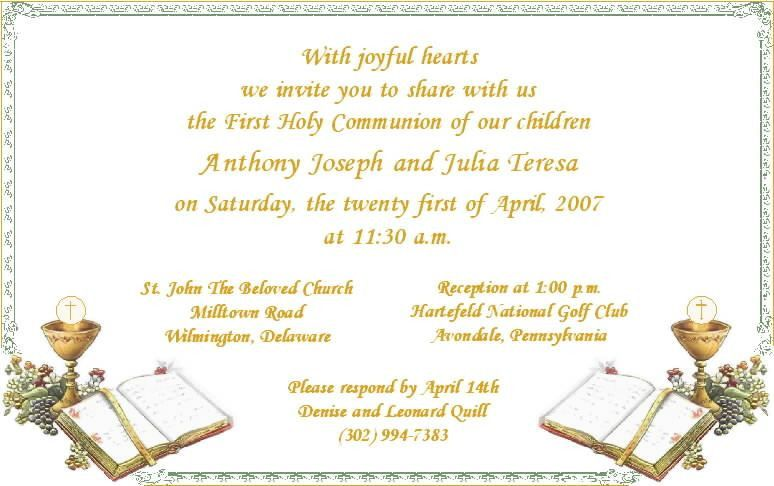 1st Communion Invitations - marialonghi.Com