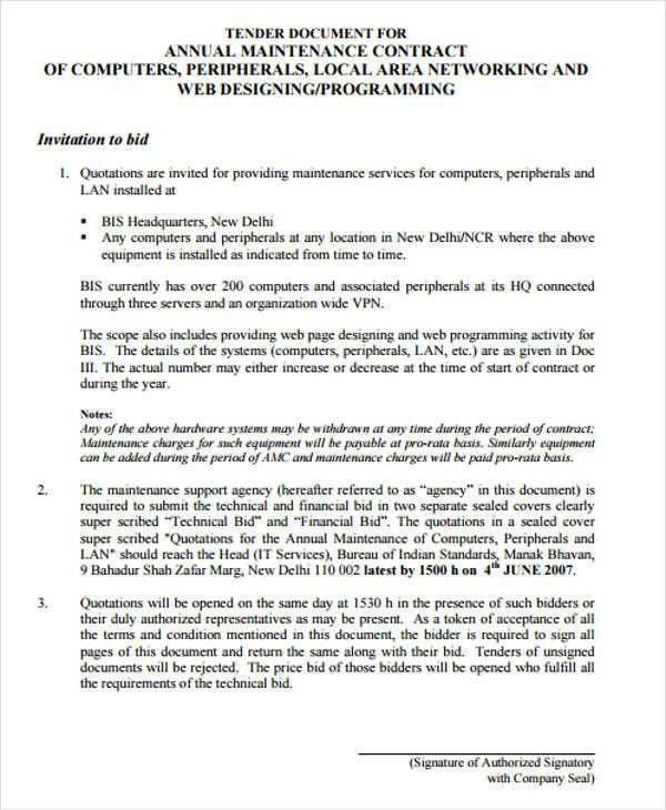 8+ Maintenance Agreement - Examples in Word, PDF