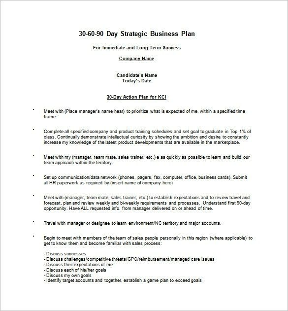 30 60 90 Day Sales Plan Template Free Sample - vnzgames
