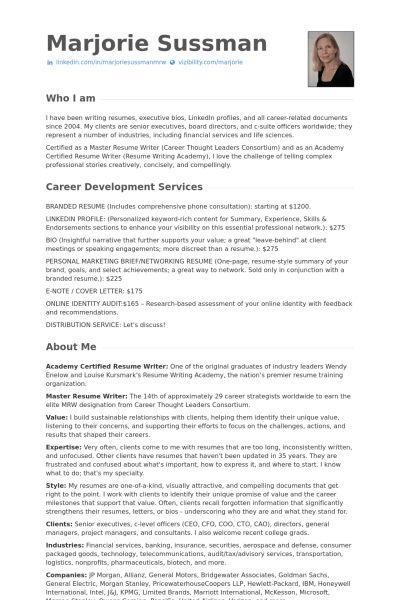Resume Resume samples - VisualCV resume samples database