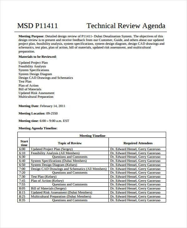 Review Agenda Templates - 10+ Free Word, PDF, Doc Format Download ...