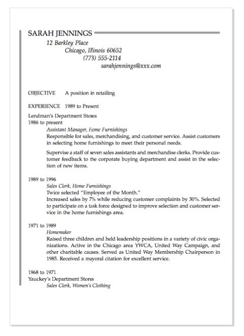 example of homemaker resume httpexampleresumecvorgexample - Homemaker Resume Samples