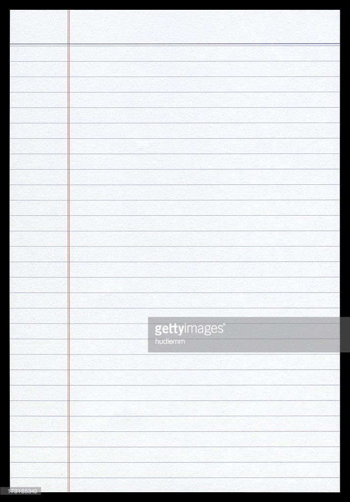 Lined Paper Stock Photos and Pictures | Getty Images