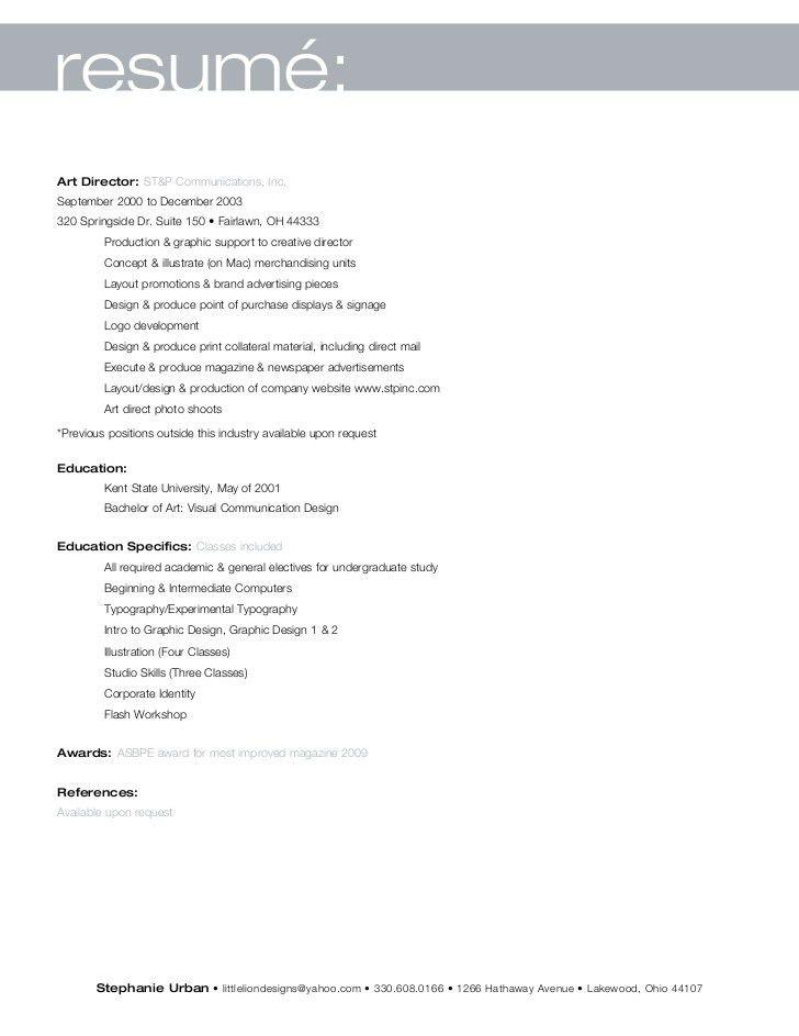 Stephanie Urban Complete Resume