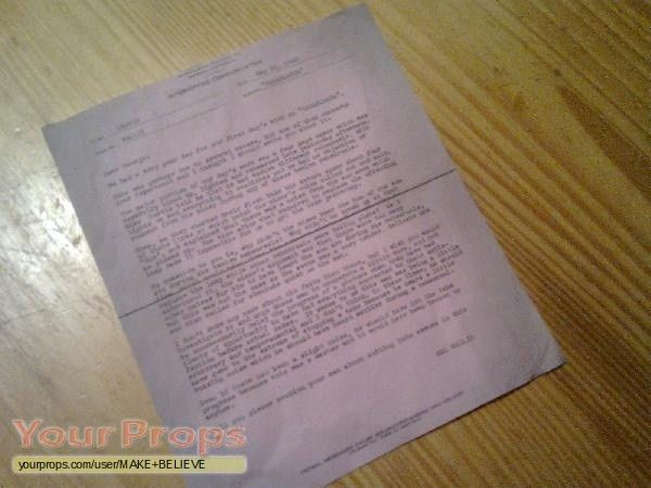Casablanca Inter Office Communication May 26, 1942 copy replica ...