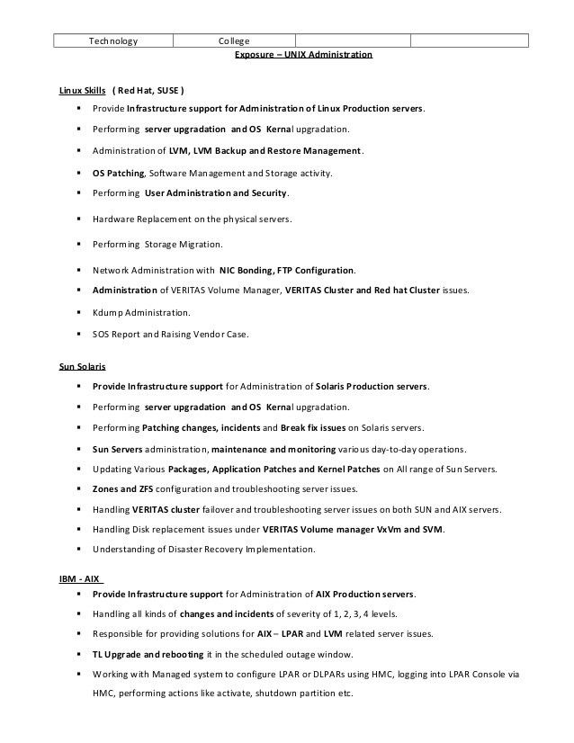 best ideas of unix system engineer sample resume for proposal - Systems Engineer Sample Resume