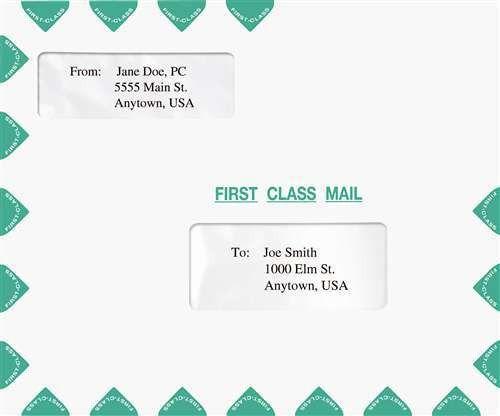 Double Window Tax Return Mailing Envelope Landscape Format