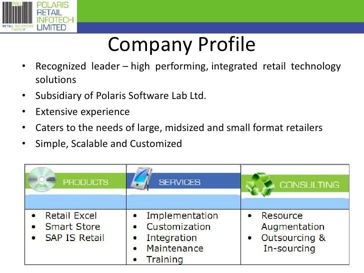 Polaris Retail Infotech Limited  Company Profile Format