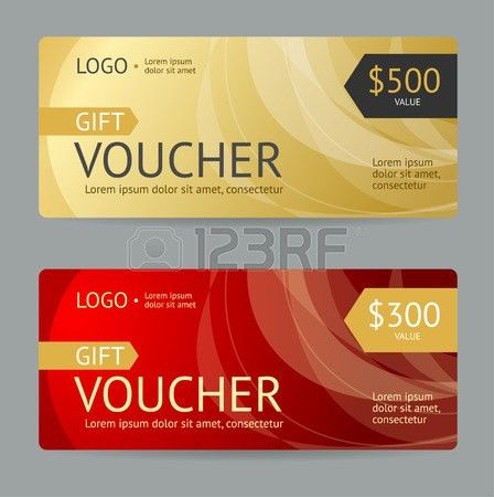 Gift Voucher Template. Luxury Design. Vector Illustration Royalty ...