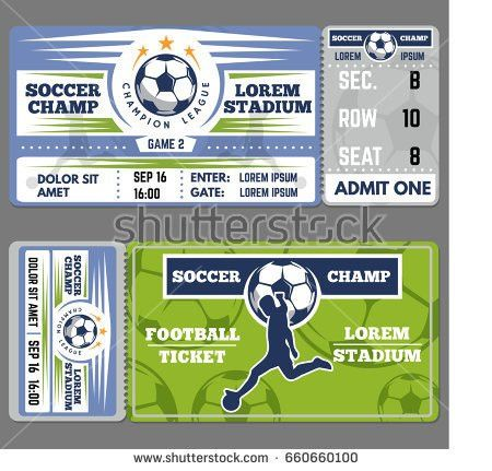 Blank Shapes Tickets Vector Set Isolated Stock Vector 455937301 ...