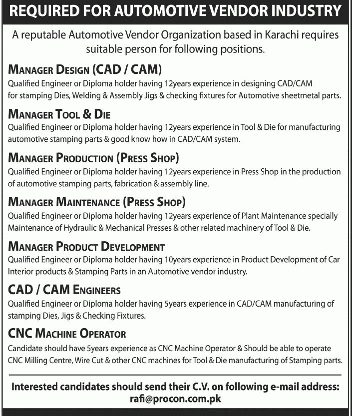 production engineering jobs please send the cv to jobscolpopcom