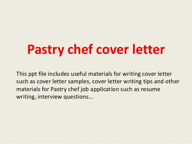 Travelling Chef Cover Letter