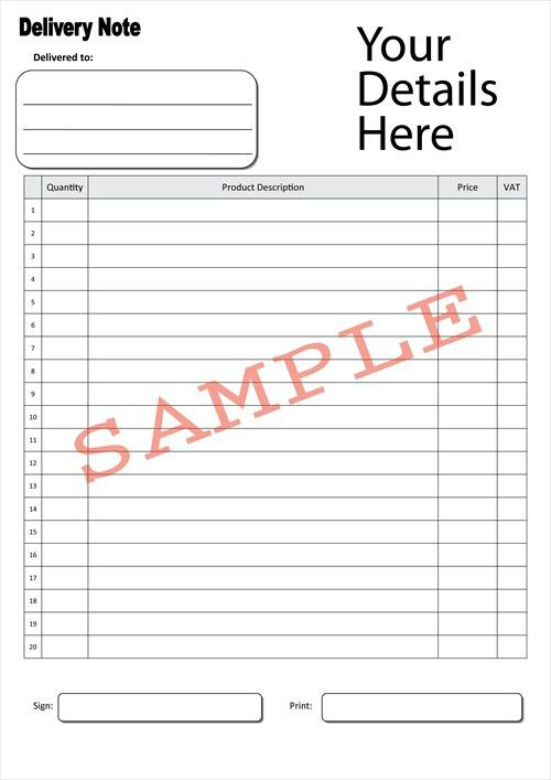 7 Best Images of Delivery Note Form - Delivery Note Template Excel ...
