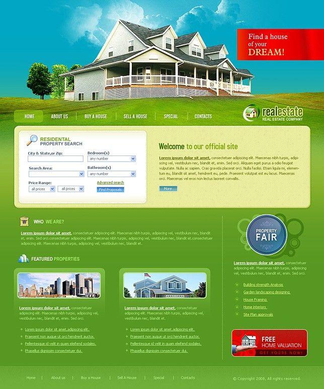 Download real estate websites templates