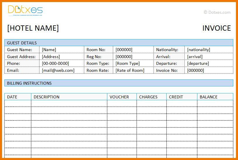 3+ hotel bill formats | postal-carrier