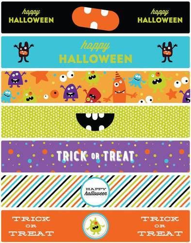 Halloween Water Bottle Labels Printable Monster Mash Theme - Label ...