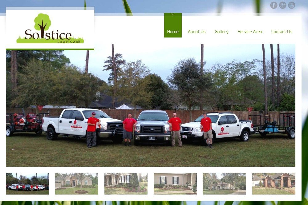 Solstice Lawn Care - Web Design Jacksonville FL - Kelly Advantage ...