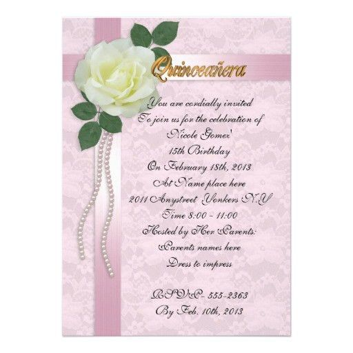 Quinceanera Invitation Templates | HASKOVO.ME