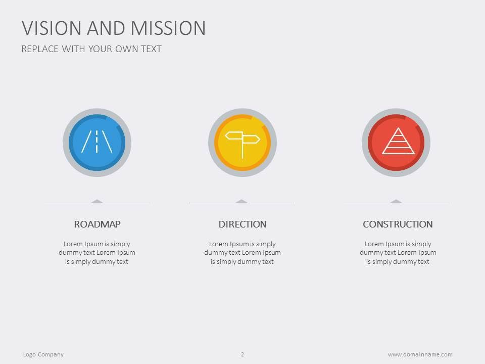 Tell us your vision and mission. #presentation #minimalist ...