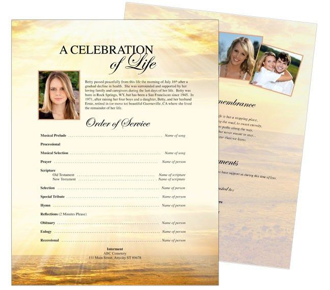 10 Best Funeral Memorial Stationary Flyer Sheets Templates Images .  Funeral Poster Templates