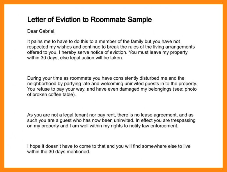 8+ eviction letter example | graphic-resume