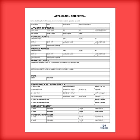 Rental Application Form Templates - Download Free for Word and PDF