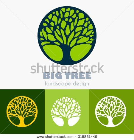 Abstract Decorative Tree Leaves Ecology Natural Stock Vector ...