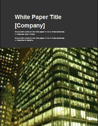 Guidelines for Writing White Papers