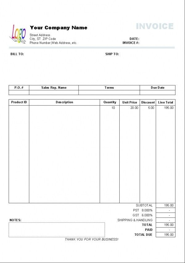 Invoice Template Excel India | Design Invoice Template