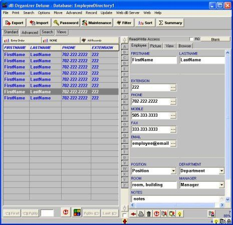 Simple Employee Phone Directory, software for windows