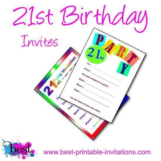 Printable 21st Birthday Invitations