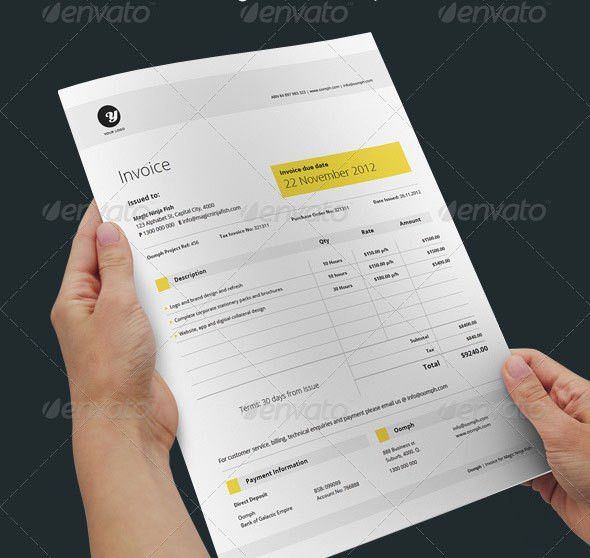 20 Creative Invoice & Proposal Template Designs | Proposal ...