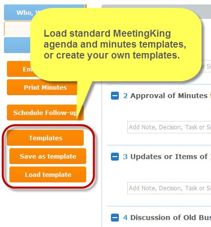 New features - Meeting Templates and Custom Logo - Meeting Agenda ...