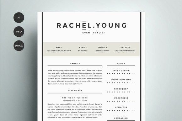 Resume Template 4 Pack | CV Template by Refinery Resume Co. on ...
