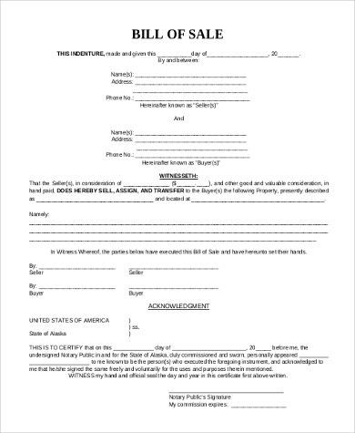 Mobile Home Bill of Sale - 6+ Free Documents in PDF