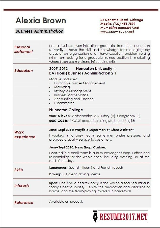 resume sample business business resume example business