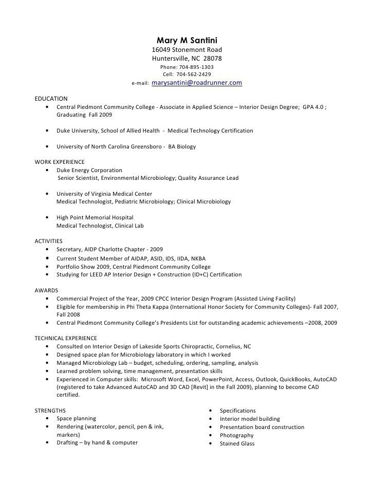 medical technologist sample resume. sample cv for medical ...
