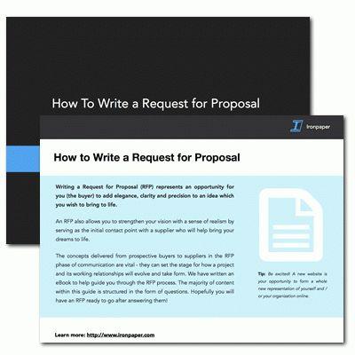 How to write a web design RFP