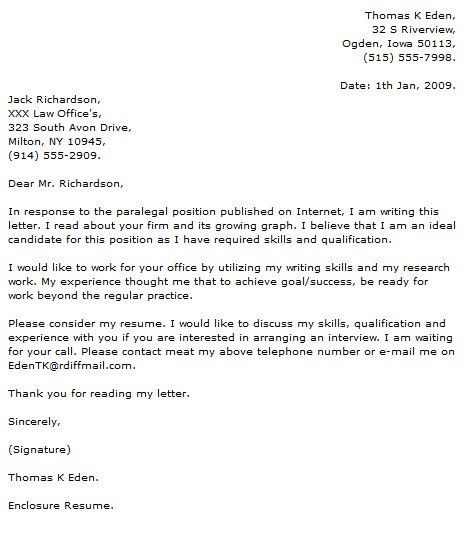 Cover Letter Social Work - My Document Blog
