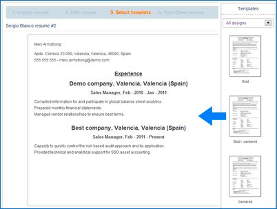 How our Resume Builder Works - Resume Builder with examples and ...